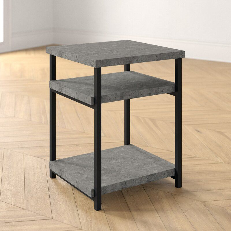 Annabelle Slate Faux Concrete Low End Table In 2020 End Tables Foundstone Table