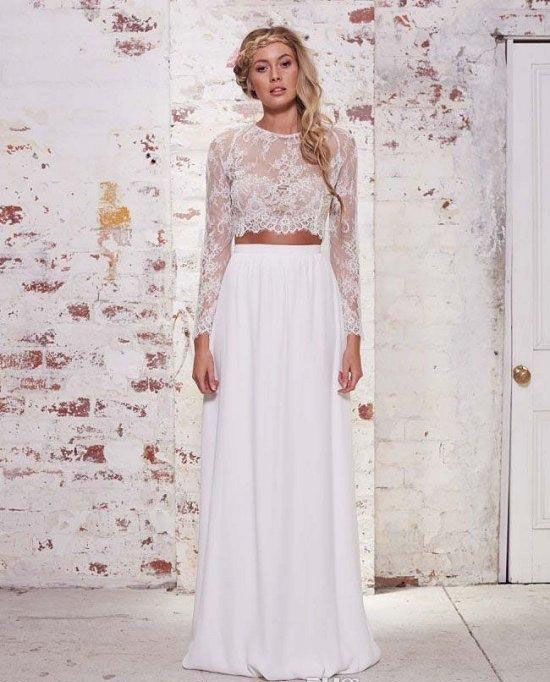 Find More Wedding Dresses Information About 2016 Hot Sale Two Pieces Bohemian Beach Chiffon