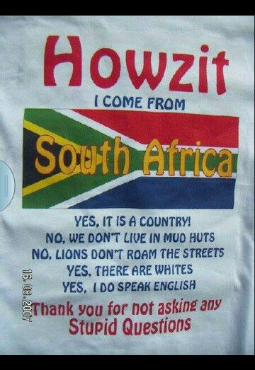 Proudly South African South Africa South Africa Facts