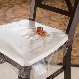 Chair Protector Heavy Duty Clear Plastic Chair Seat Cover Cover