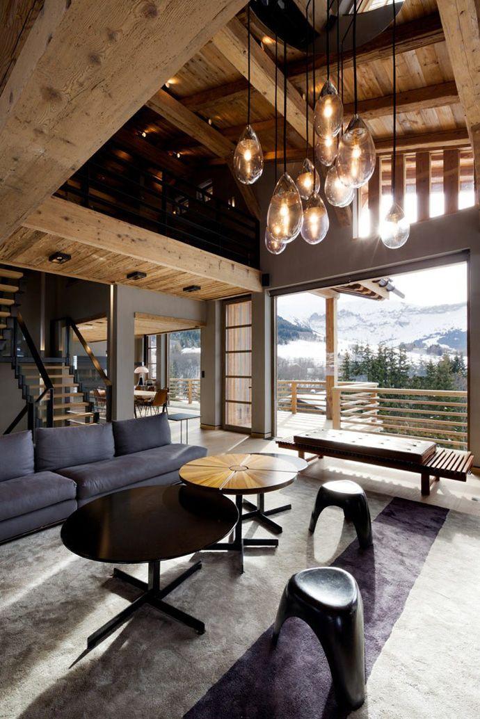 Décoration d\'intérieur moderne pour un chalet de luxe à la ...
