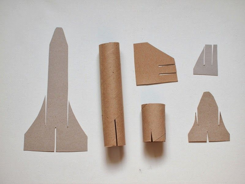 Cardboard Space Shuttle Craft (template Included)