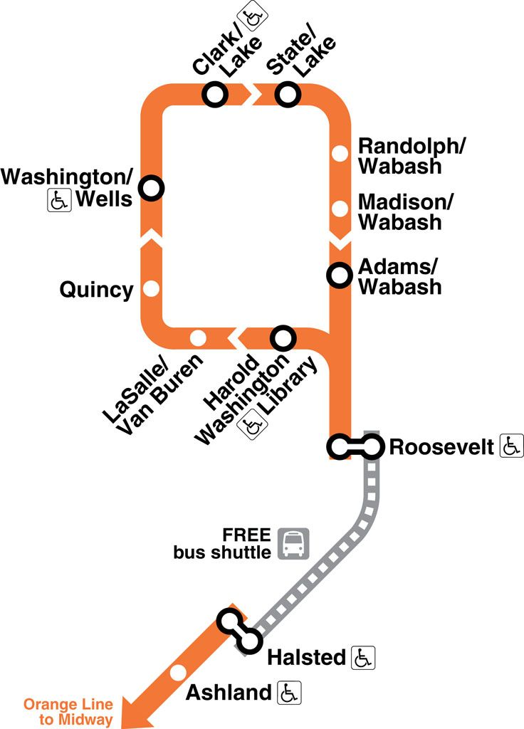Orange Line Chicago Map map of the orange line in chicago     Yahoo Image Search Results
