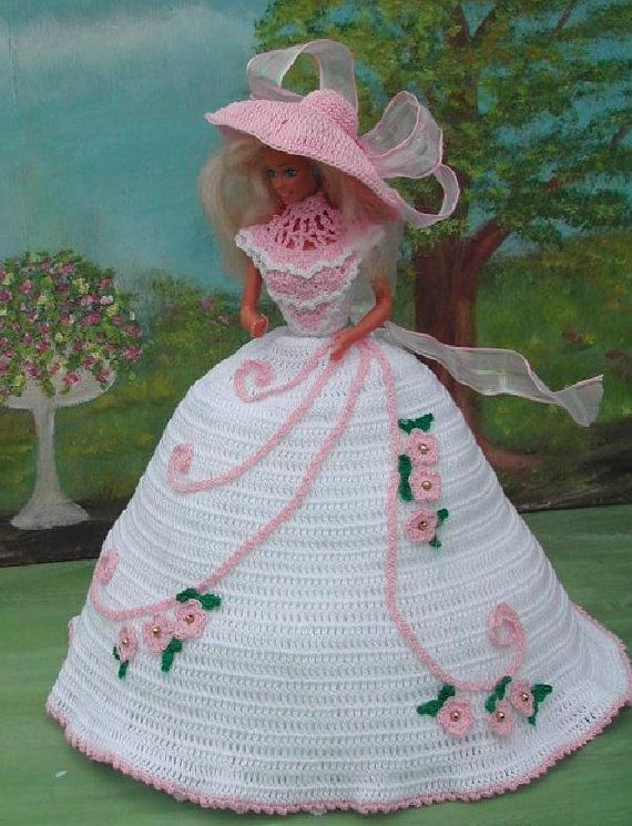 Crochet Fashion Doll Barbie Pattern- #80 SOUTHERN BEAUTY #3 ...