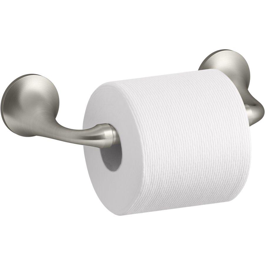 Shop KOHLER Elliston Vibrant Brushed Nickel Recessed Toilet Paper - Kohler bathroom accessories brushed nickel