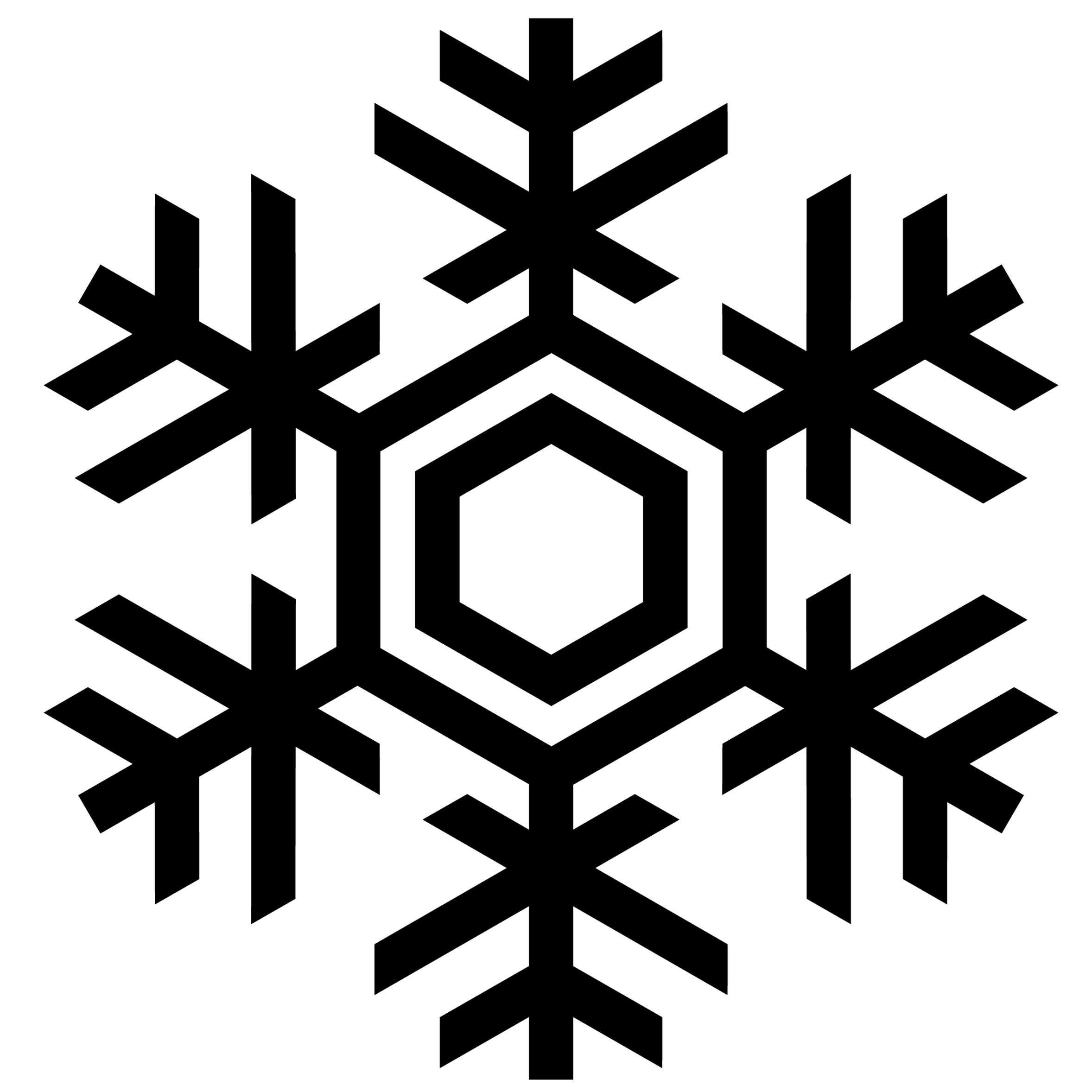 Snowflake Line Drawing Clipart Free to use Clip Art