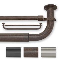 @Overstock - The wrap-around design and energy efficiency of this barricade window curtain hardware make it an easy solution for curtain hanging. With color options of ant brown, pewter, and black, you can easily fit this hardware into any style of decor.http://www.overstock.com/Home-Garden/Barricade-52-74-Inches-Energy-Efficient-Double-Window-Hardware/5967078/product.html?CID=214117 $49.99