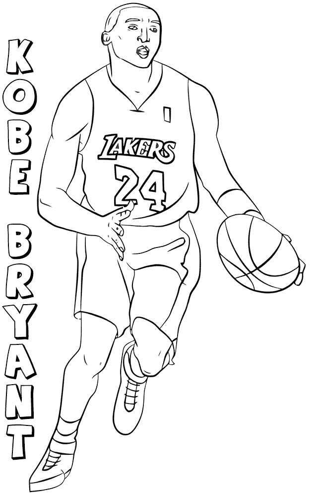 Nba Coloring Pages Kobe Bryant Bryant Coloring Pages Sports Coloring Pages Lebron James Images Coloring Pages Inspirational
