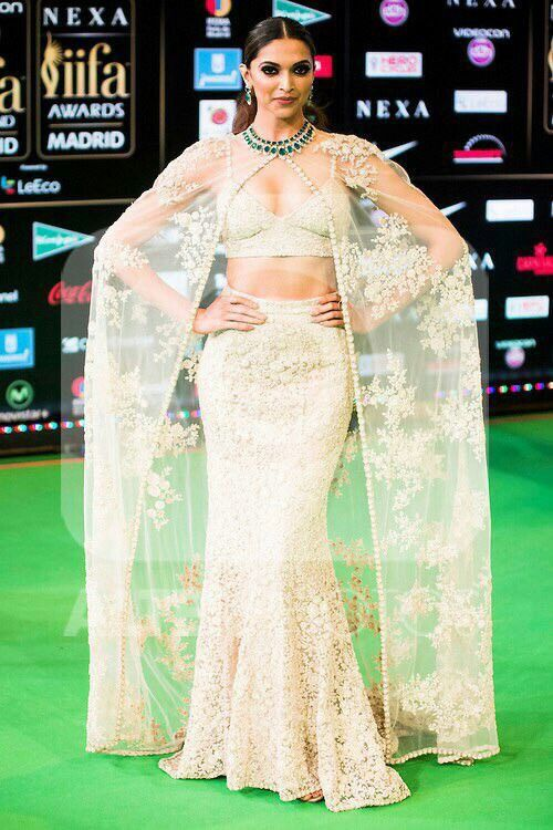 White lehenga dress