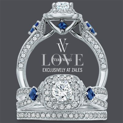 Vera Wang Bridal Set With Diamonds And Sapphires