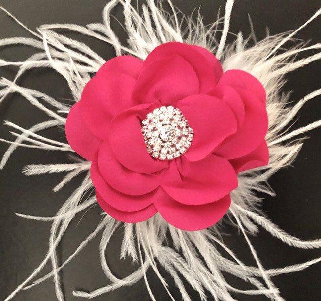 591aa8e63b4b Pink Floral Hair Clip
