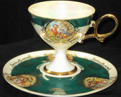 Japan Courting-couple   Tea cup and saucer