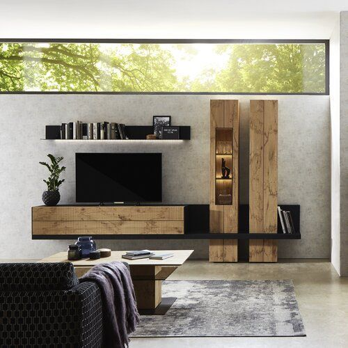 Wohnwand Taneo Fur Tvs Bis Zu 65 Schoner Wohnen In 2020 Tv Room Design Home Theater Design Modern Tv Wall Units