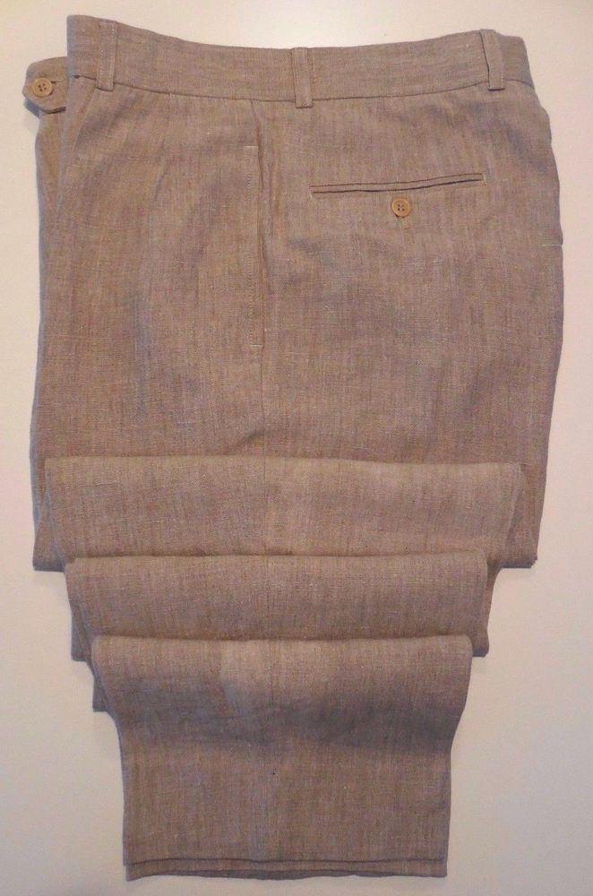 Details About Country Road Linen Pants Men 33 32 Beige Trouser