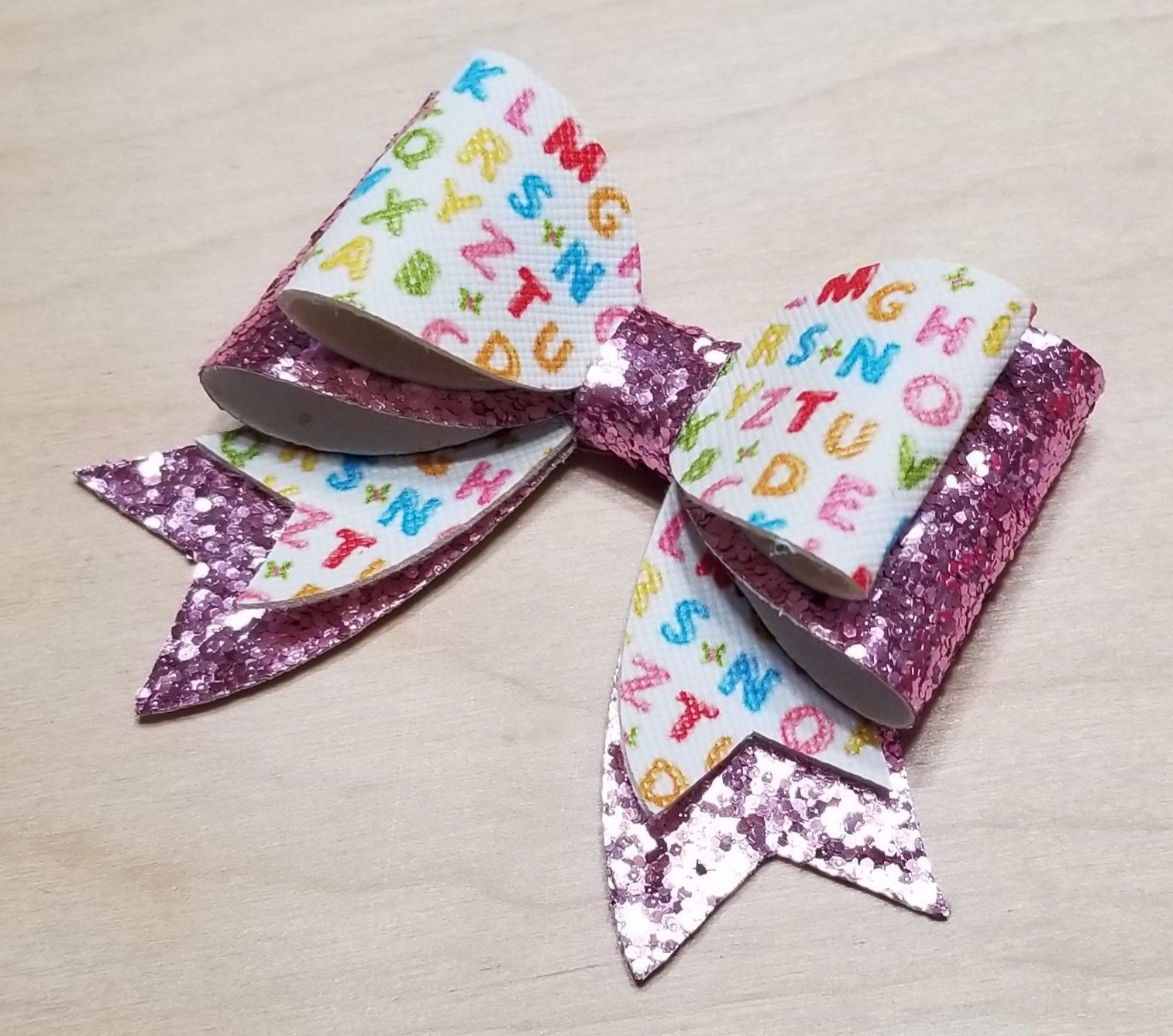 School Bow School Faux Leather Faux Leather Faux Leather Bow Back to School