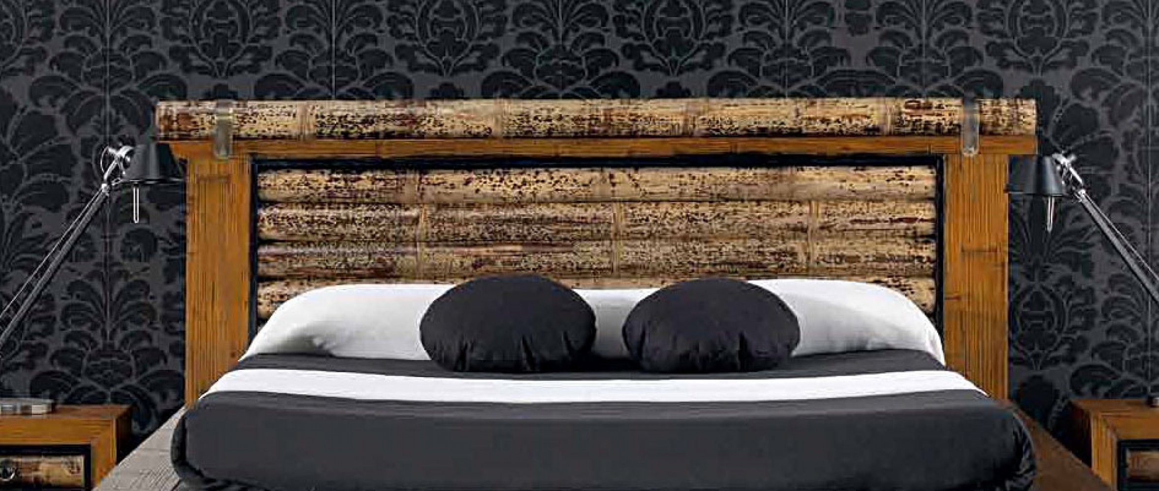 t te de lit bambou sha 160 cm tete de lit pinterest. Black Bedroom Furniture Sets. Home Design Ideas