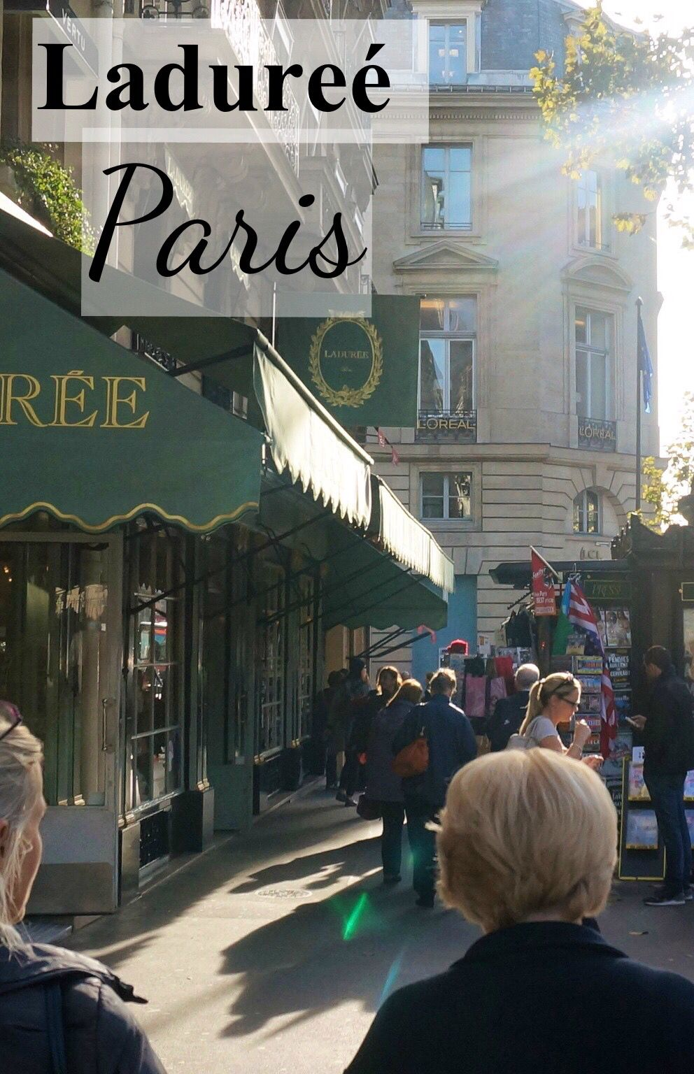 Paris shopping guide to the best macarons at Ladureé. How to order macarons and bring them back (carefully!) as a travel souvenir from Paris.