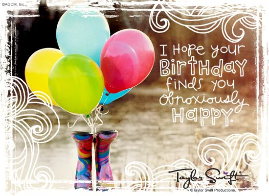 Extra Happy Wishes Taylor Swift Happy Birthday Ecard