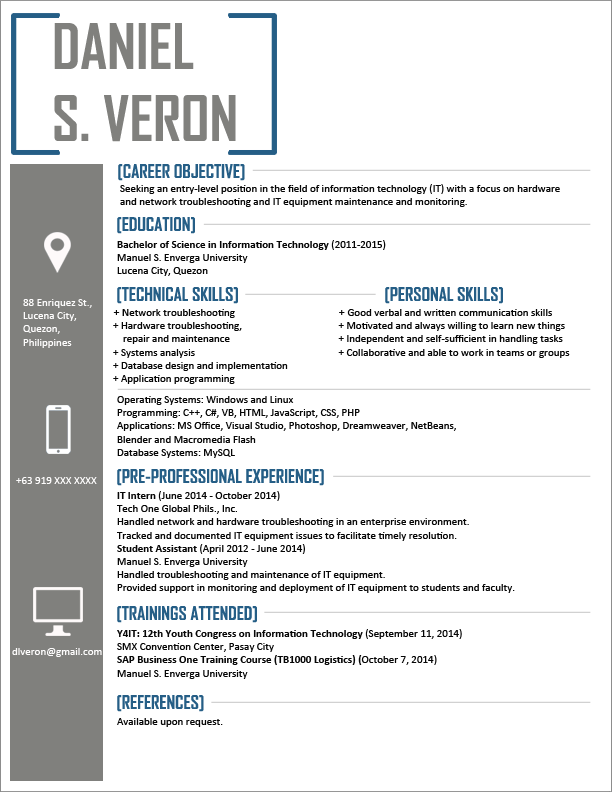 Free Resume Templates Information Technology Freeresumetemplates Information Resum Resume Template Word Downloadable Resume Template Resume Template Free