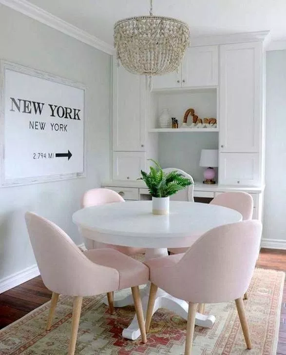 Lovely Pink Dining Room Chairs Ideas 00012 Rodgerjennings Org