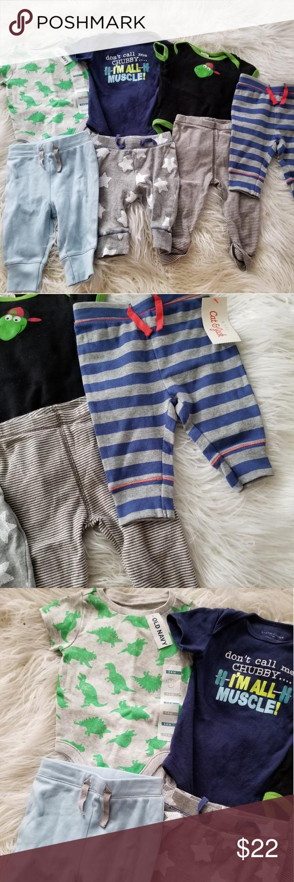 32aa29d97ee3 Baby Boy 3-6 Months Lot Bundle One Piece Pants Sho