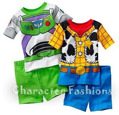 fa704a74d TOY STORY WOODY BUZZ Pajamas pj's Size 2T 3T 4T Shirt Shorts Costume ...