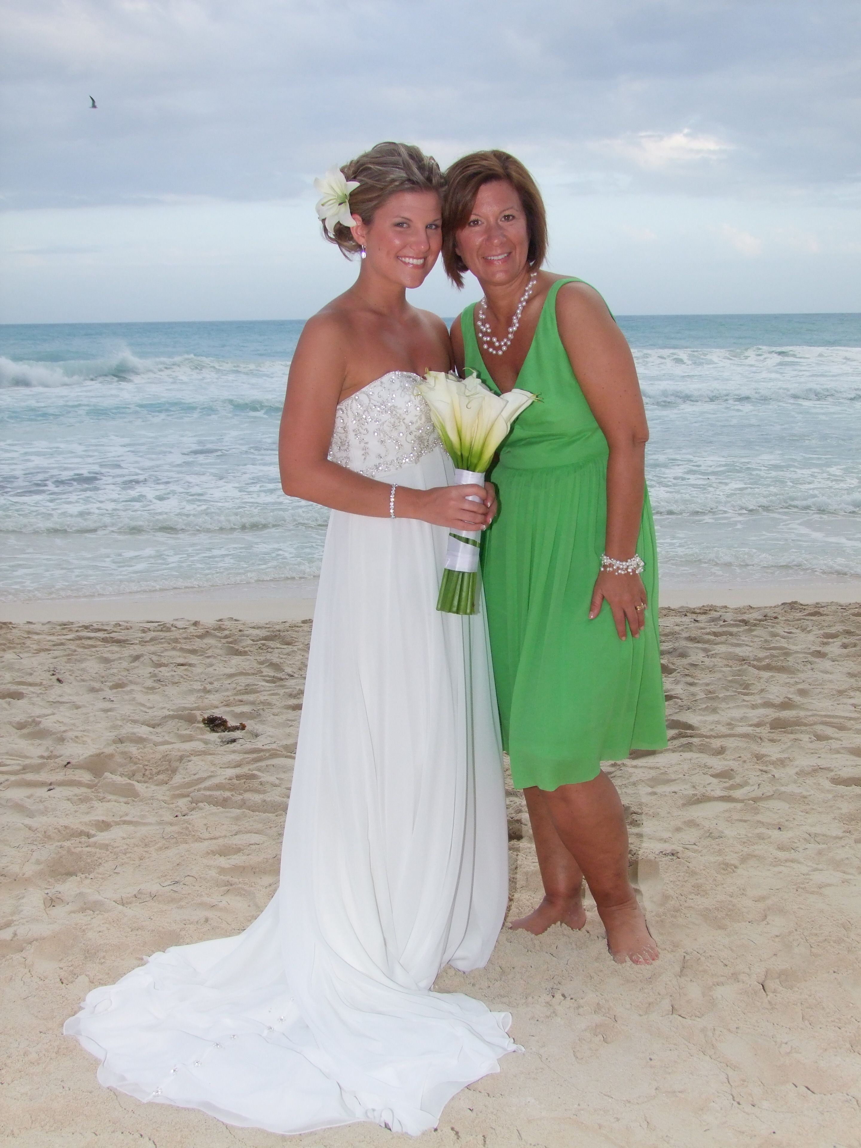 Mother of the bride dress jcrew kelly green rivera maya 1 for Green beach wedding dresses