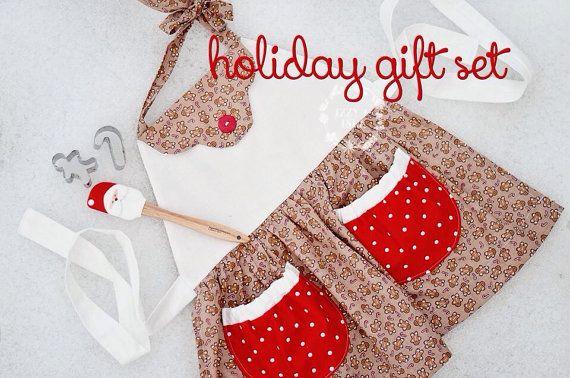 Holiday Gift Set - Kids Baking Set - Christmas Gift -1251