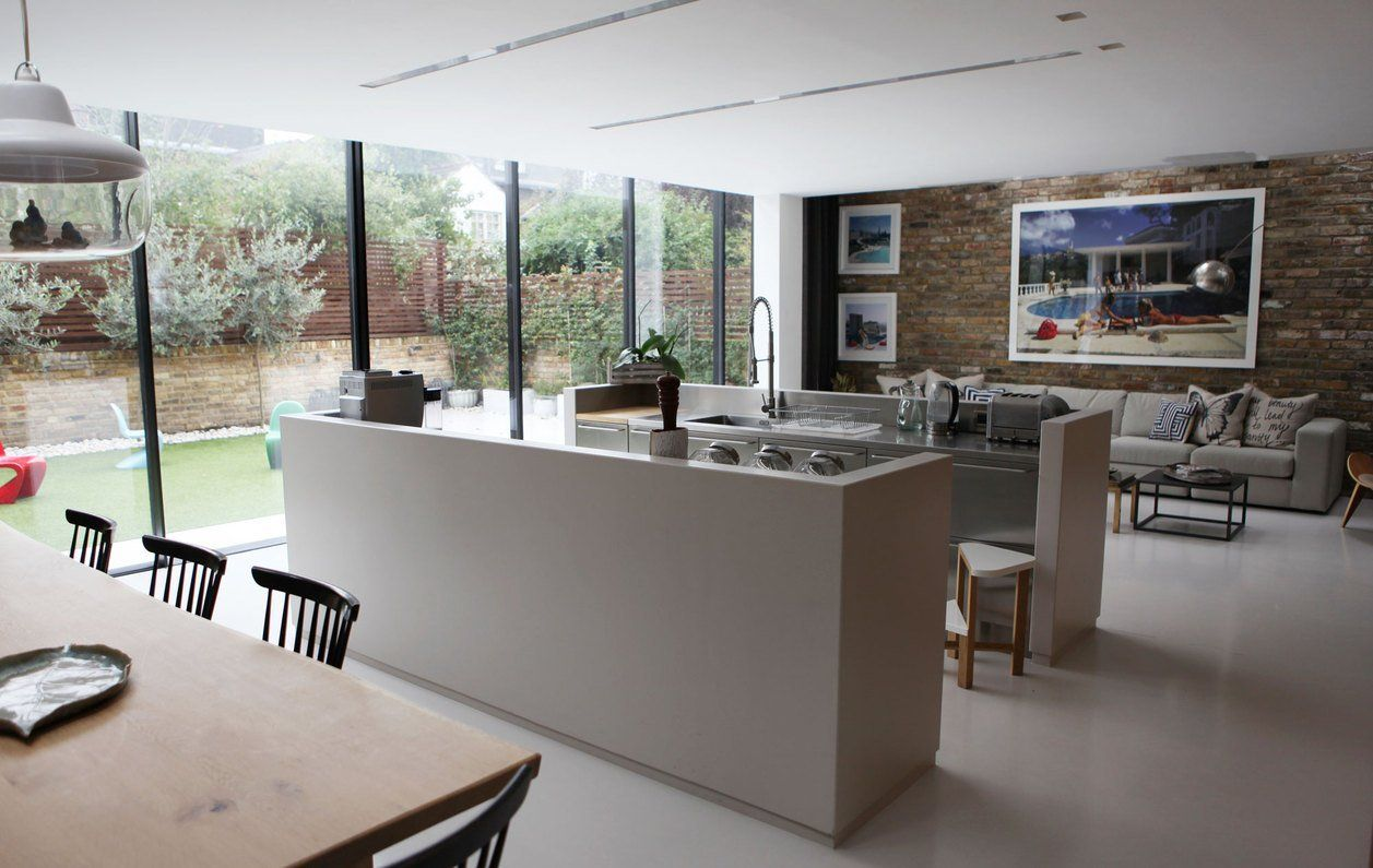 Chloe S Stylish West London Home Home House Open Plan Kitchen Living Room