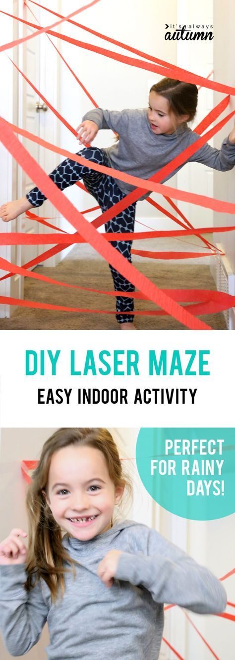 DIY hallway laser maze {indoor fun for kids #superherocrafts