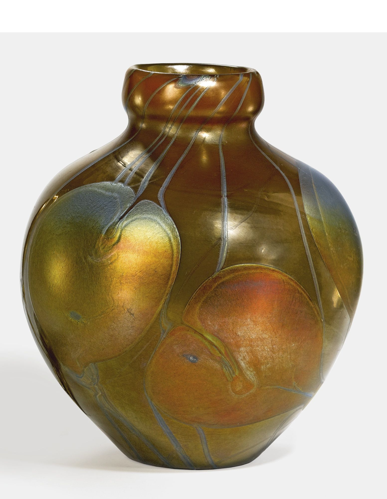 Tiffany Studios Quot Leaf And Vine Quot Decorated Vase Favrile