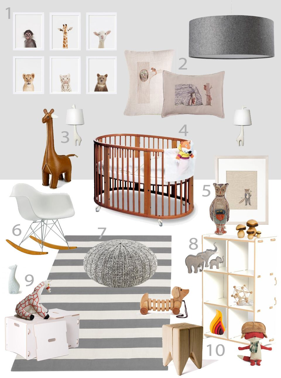 My modern nursery finn s nursery by sissy marley kids - Baby jungenzimmer ...