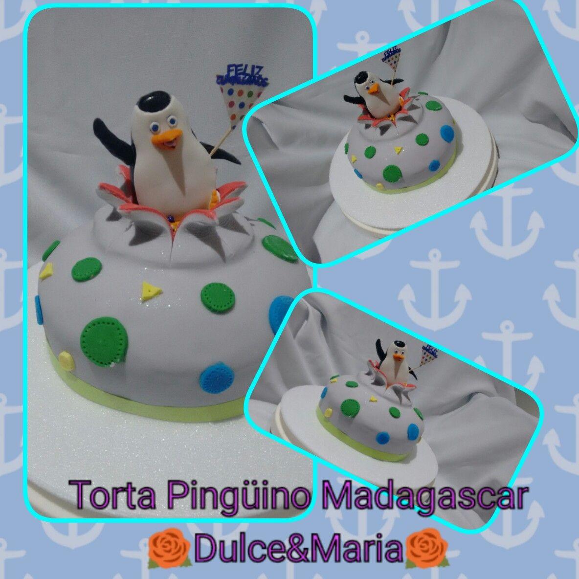 Torta Pingüino Madagascar 🌹Dulce&Maria🌹