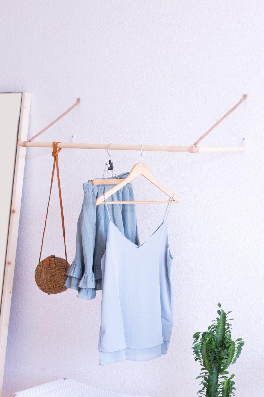 Garderobe Selber Bauen Die Filigrane Losung Fur Die Wand Diy