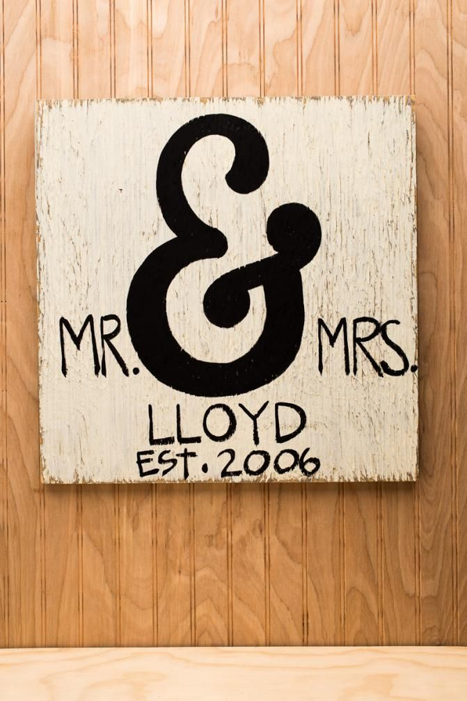 wooden signs with last names | Distressed Wooden Mr. & Mrs. Sign | Simply Southern Signs | Bourbon ...