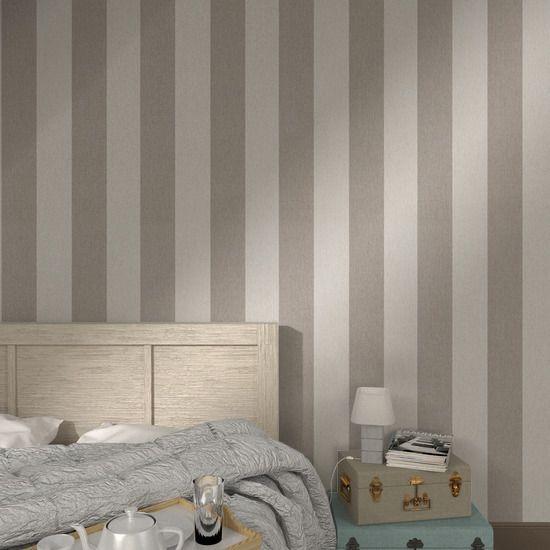 Intisse Calico Stripe Coloris Cappuccino Decoration Maison Papier Peint Chambre Papier Peint