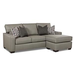 Antoro Contemporary Mini Sectional Sofa With Ottoman Chaise By Simple  Elegance At Gardiners Furniture