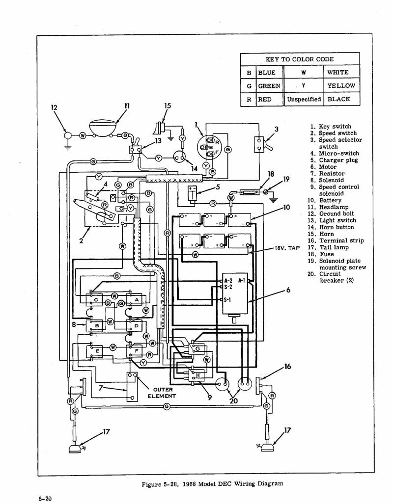 golf cart wiring diagram for headlight relay
