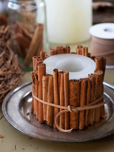 the winter craft to beat all winter crafts dress up a candle with cinnamon sticks candles diy crafts