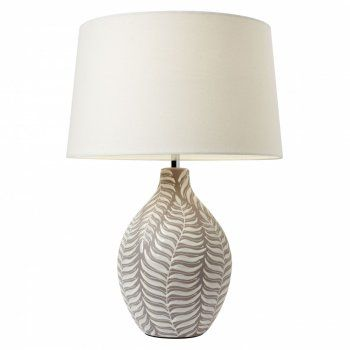 The Lighting Directory Fern Leaf Patterned Ceramic Table Lamp Beautiful Table Lamp Traditional Table Lamps Table Lamp