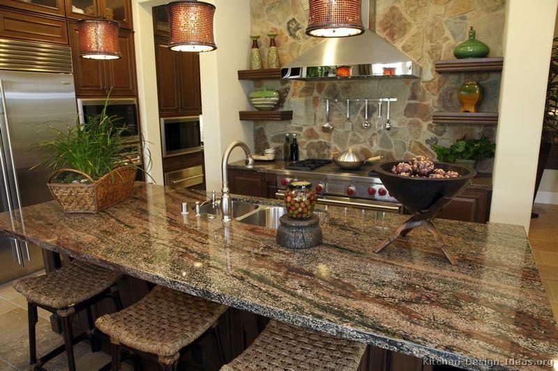 Kitchen Design Granite Captivating Luxury #kitchen Of The Day Stone Backsplash Green & Purple Decorating Inspiration