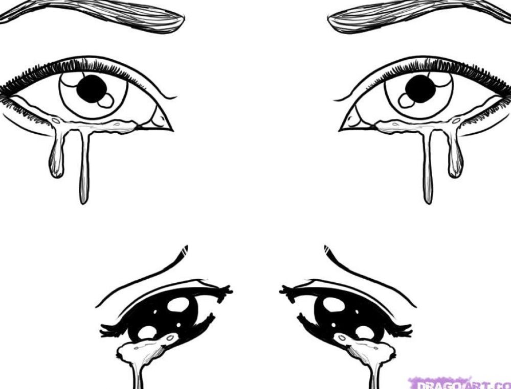 How To Draw Eyes Crying Hairstyle Cry Drawing Drawing People Crying Eyes