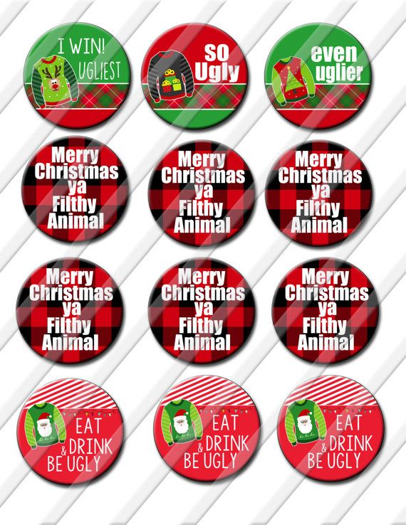Christmas Party Award Ideas Part - 48: Ugly Christmas Sweater Party Award 2.25 Inch By ItsYourPartyPinit