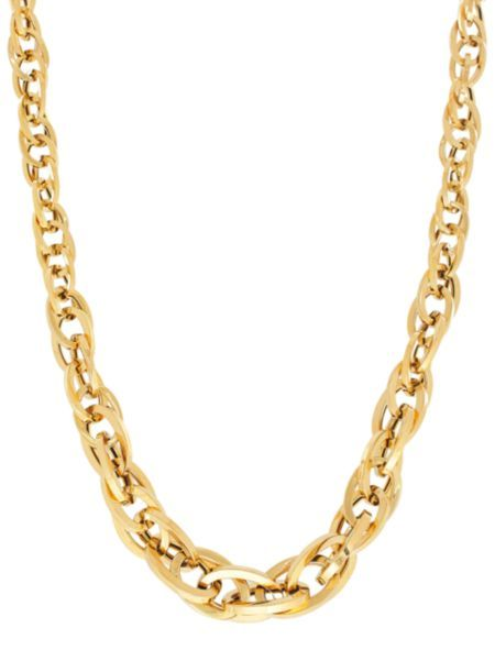 Lord & Taylor - 14K Yellow Gold Multi Interlock Oval Link Necklace