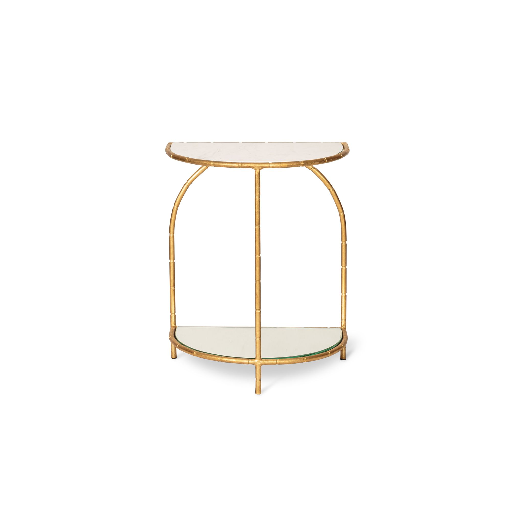Buy The White Luxe Half Moon Bamboo Side Table At Oliver Bonas. We Deliver  Furniture Throughout The UK Within 5 12 Working Days From £35.