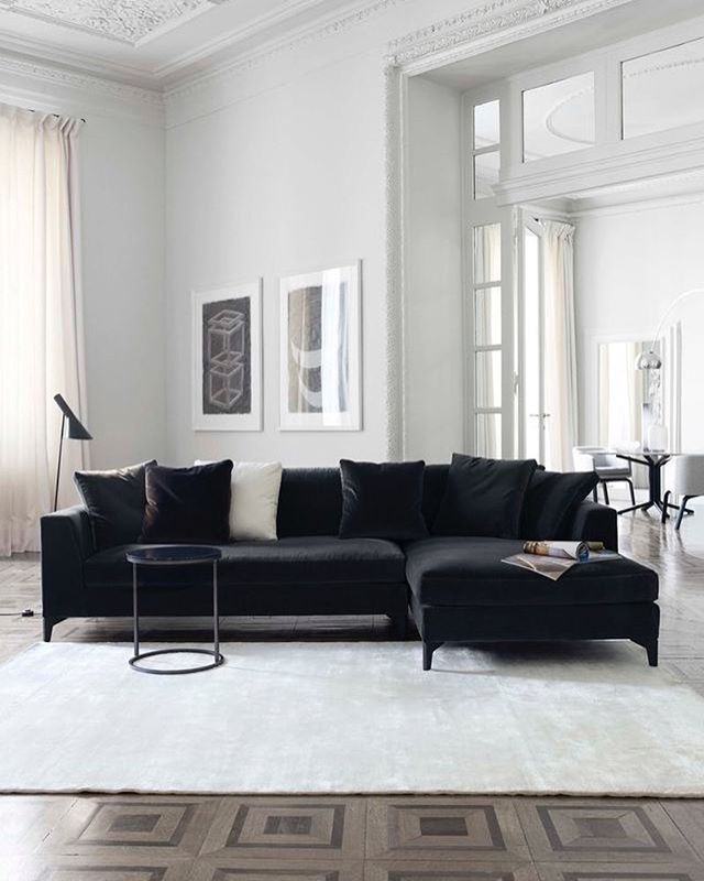 Perfect Black Sofa Interior Style Inspo Couch Uashmama