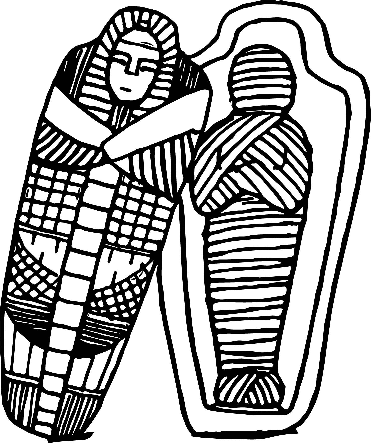 Awesome Sarcophagus Coloring Page Coloring Pages Coloring
