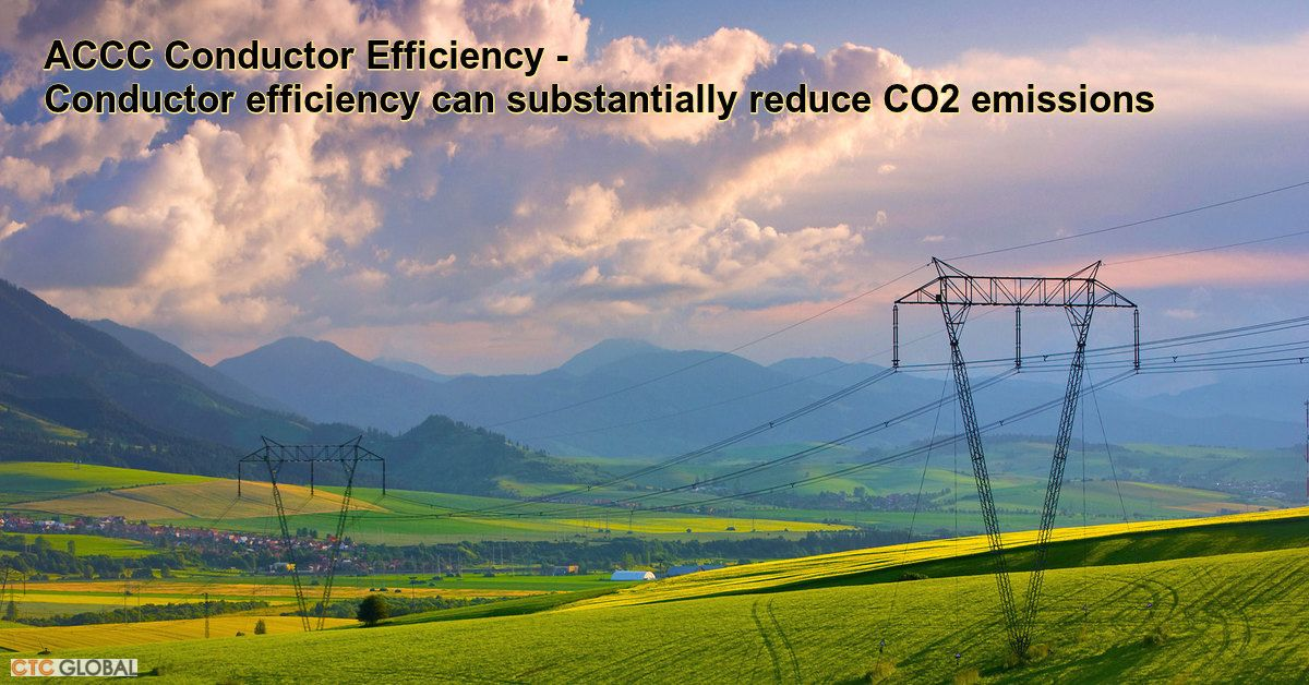 Accc Conductor Efficiency Can Dramatically Reduce Co2 Emissions With Images Efficiency Conductors Emissions