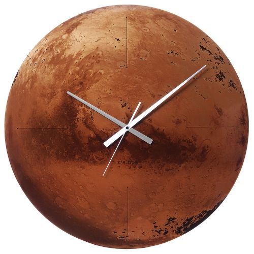 Captivating Present Time   Mars Wall Clock Amazing Pictures