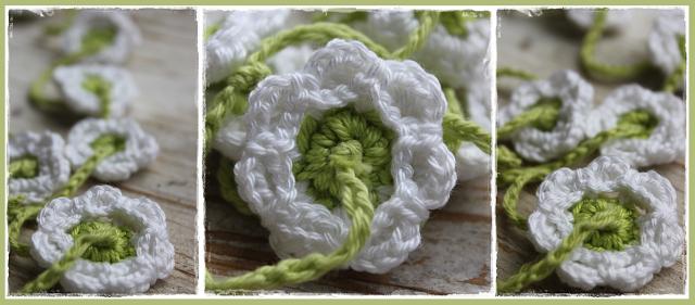 En Hooks: Guirnalda de flores blancas